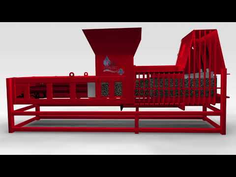High Density Exturder Animation - wet waste recycling