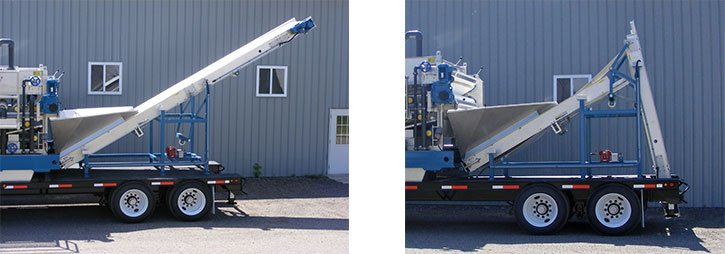"Folding 36""W X 21'L Dewatered Sludge custom Conveyor"