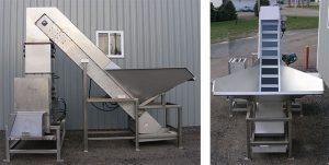 45 Degree Incline Beverage Metering custom Conveyor