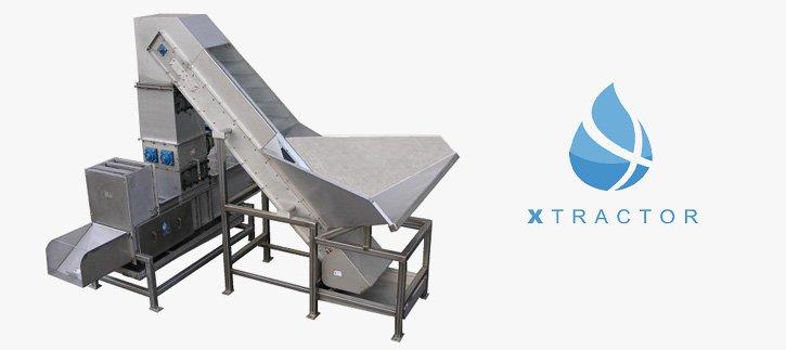 Xtractor with 45 Degree Incline Beverage Metering Conveyor