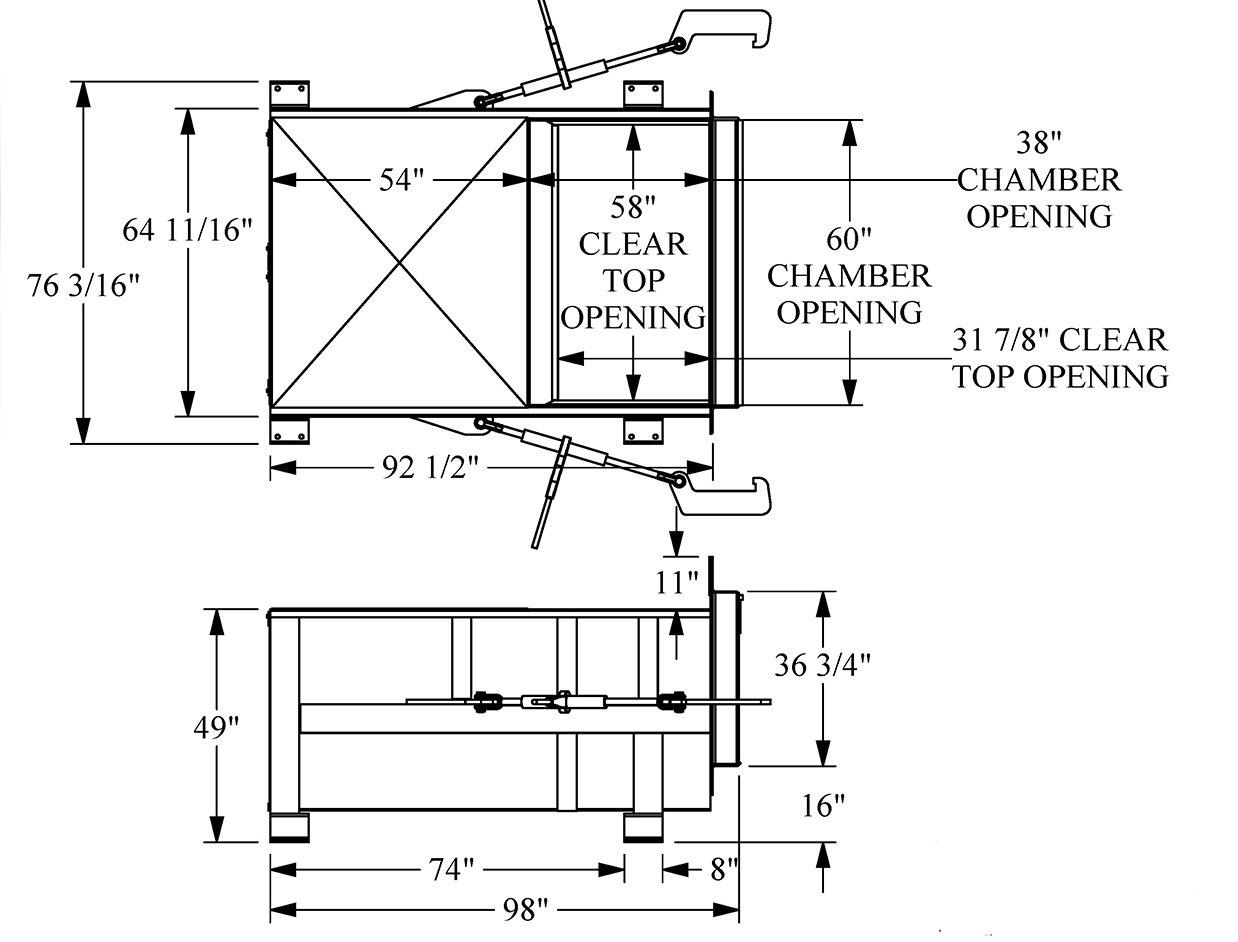 Sebright stationary compactors 3860 drawing